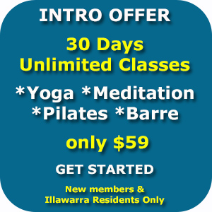 wollongong yoga pilates barre meditation introductory intro pass