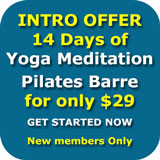 Intro Pass Yoga Pilates Meditation Mindfulness Barre Wollongong