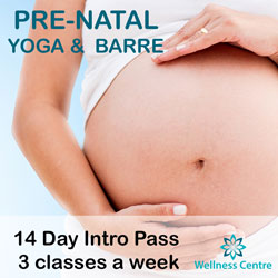 pregnancy prenatal exercise yoga barre wollongong